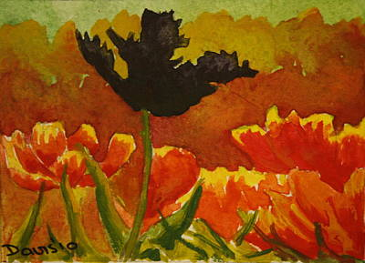 Painting - Black Tulip by Phil Davis