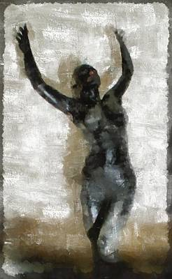 Burlesque Painting - Black Venus By Mb by Mary Bassett