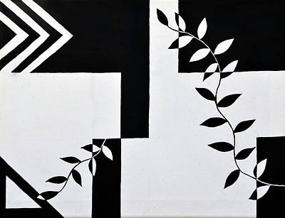 Painting - Black Vs White Again by Farah Faizal