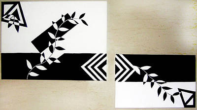 Painting - Black Vs White by Farah Faizal