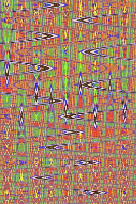 Digital Art - Black Walnut Ink Drawing Abstract # 1494et3 by Tom Janca