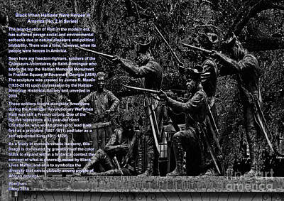 Digital Art - Black When Haitians Were Heroes In America Series Print No. 2 With Text by Aberjhani