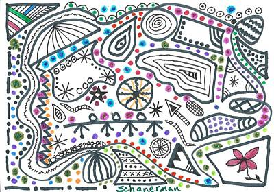 Uplifting Drawing - Black White And More by Susan Schanerman
