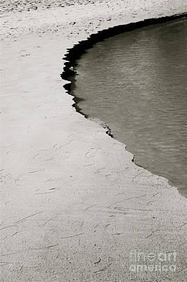 Black & White Shoreline Art Print