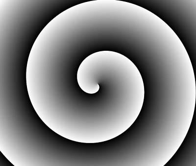 Black White Spiral  Art Print