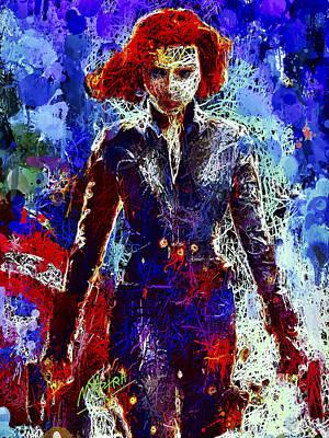 Mixed Media - Black Widow by Al Matra