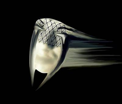 Creative Manipulation Mixed Media - Black Widow by Frances Lewis