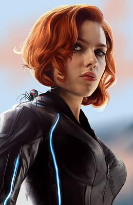 Bluejay Digital Art - Black Widow by Jason Longstreet