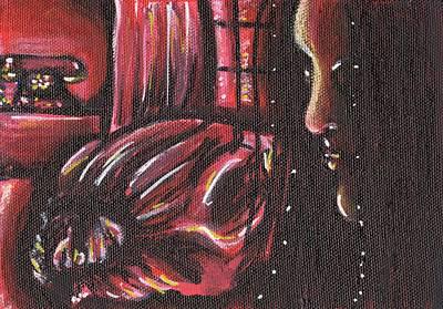 Black Widow Drawing - Black Widow by Krysta Logan
