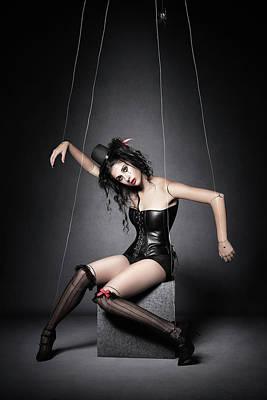 Surrealism Royalty-Free and Rights-Managed Images - Black Widow Marionette Puppet  by Johan Swanepoel
