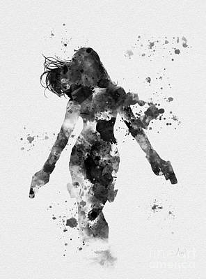 Movie Mixed Media - Black Widow by Rebecca Jenkins