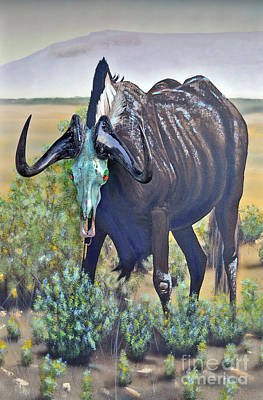 Painting - Black Wildebeest by Mayhem Mediums