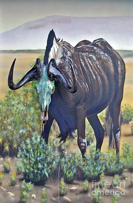 Painting - Black Wildebeest by Mayhem Mediums