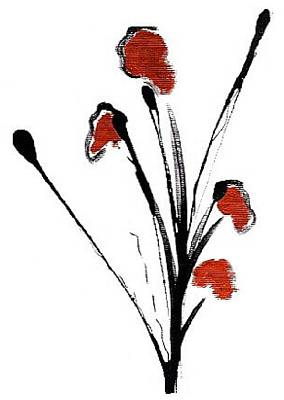 black with a touch of red  A Art Print by Mimo Krouzian