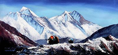 Black Yak On Everest Base Camp Art Print by Whimsy Art
