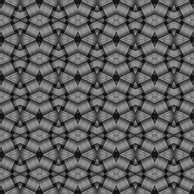 Digital Art - Blackand Gray Geometric Pattern by Gina Lee Manley