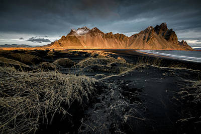 Photograph - Blackbeach And Vestrahorn by Allen Biedrzycki