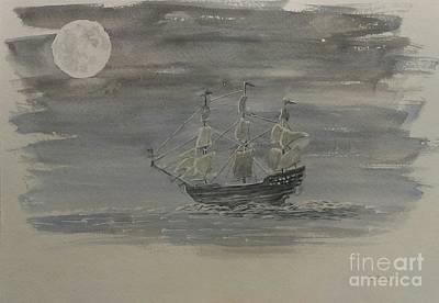 Blackbeard's Ship Original by Stacy C Bottoms