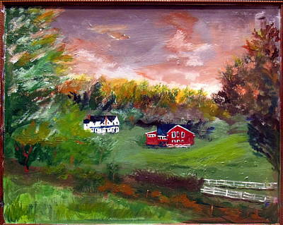 Lodging Painting - Blackberry Farm Sunset by Max Bowermeister