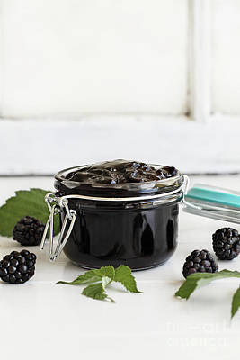 Photograph - Blackberry Preserves And Fruit by Stephanie Frey