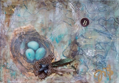 Nursery Rhyme Mixed Media - Blackbird Blackbird by Jennifer Kelly