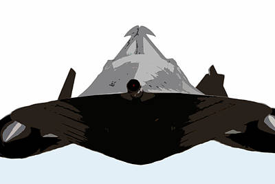 Warplane Painting - Blackbird by David Lee Thompson