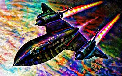 Sr-71 Painting - Blackbird by Don Barrett