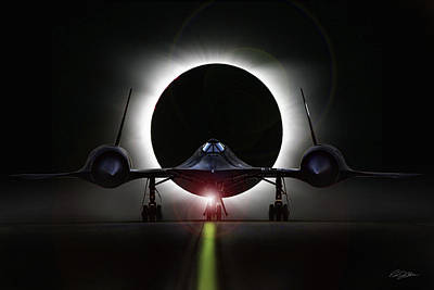Okinawa Digital Art - Blackbird Eclipse by Peter Chilelli