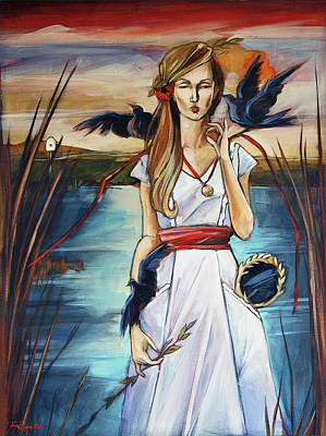 Blackbird Art Print by Jacque Hudson