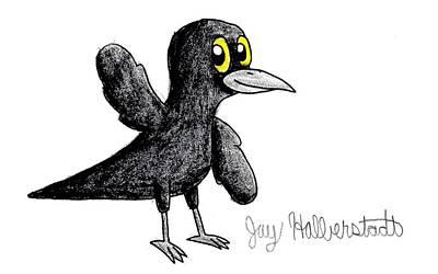 Drawing - Blackbird by Jayson Halberstadt
