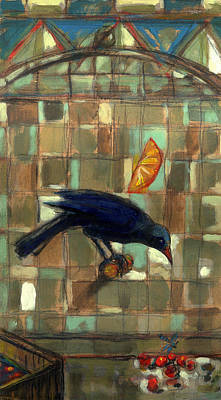 Painting - Blackbird by Nato  Gomes