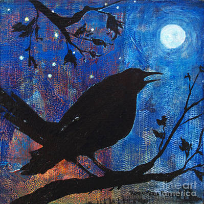 Blackbird Singing Art Print by Robin Maria Pedrero