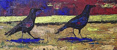 Blackbirds Art Print by Cat Culpepper