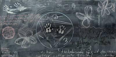 Blackboard Science And Art II Art Print by Stephen Hawks