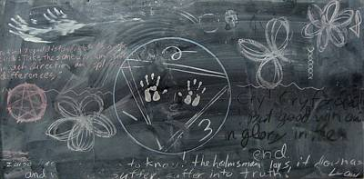 Blackboard Science And Art II Print by Stephen Hawks