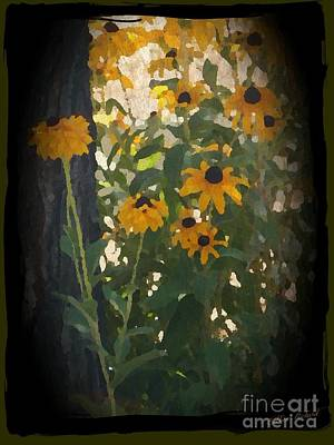 Photograph - Blacked Eyed Susans Painting by Bobbee Rickard