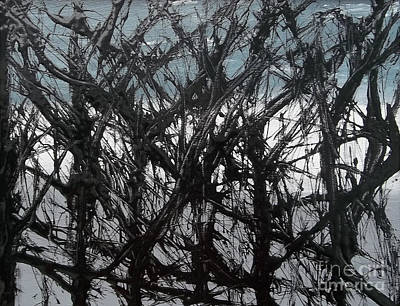 Pollack Painting - Black Forest by Rick Maxwell