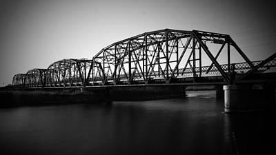 Coalbrookdale Photograph - Blackened Bridge  by Lance Kenyon