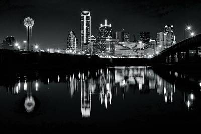 Photograph - Blackest Black In Dallas by Frozen in Time Fine Art Photography