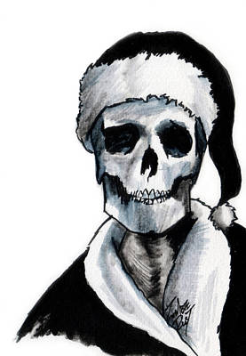 Painting - Blackest Ever Black Xmas by Zombie Rust
