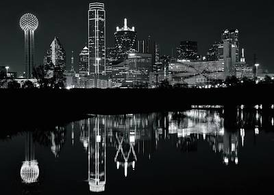 Photograph - Blackest Night In Big D by Frozen in Time Fine Art Photography