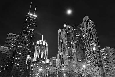 B Drake Photograph - Blackest Night In Chicago by Frozen in Time Fine Art Photography