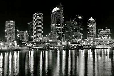 Photograph - Blackest Night In Tampa by Frozen in Time Fine Art Photography