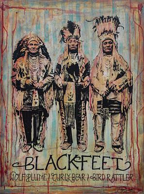 Plume Mixed Media - Blackfeet Earth Tones by Dennis Line