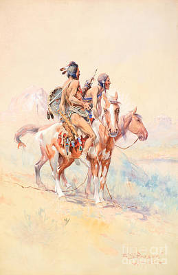 Indigenous Culture Painting - Blackfeet Scouts by Celestial Images