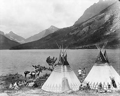 Photograph - Blackfoot Encampment.  by Granger