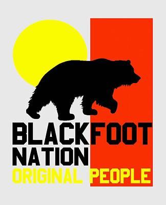 Blackfoot Nation Original People 2 Art Print