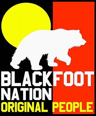 Blackfoot Nation Original People Art Print