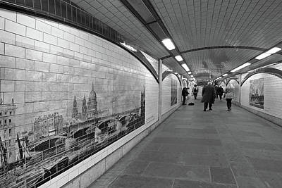 Photograph - Blackfriars Bridge Underpass On The South Bank London by Gill Billington