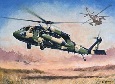 Painting - 'blackhawk Manoevours' by Colin Parker